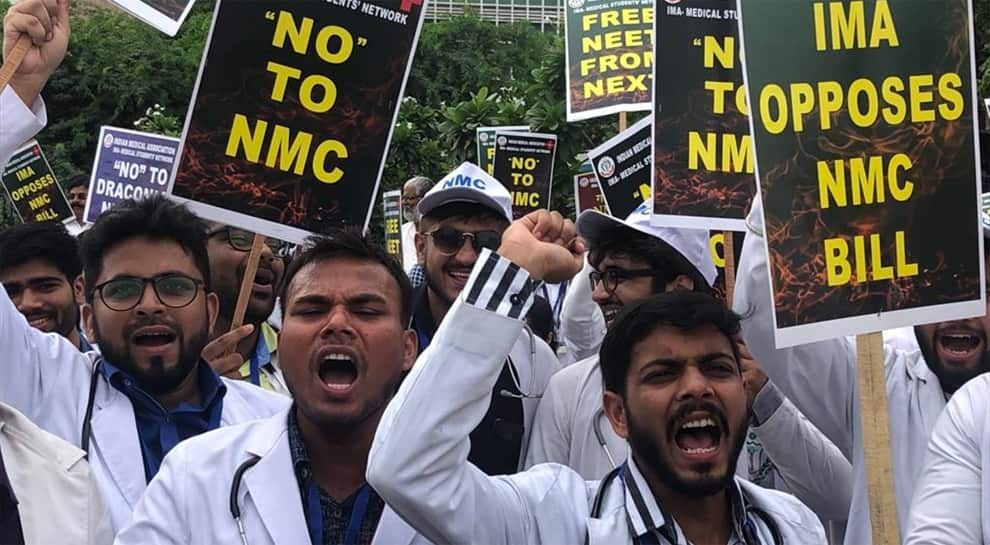 Doctors go on 24-hour nationwide strike against NMC Bill on Wednesday, non-essential services withdrawn