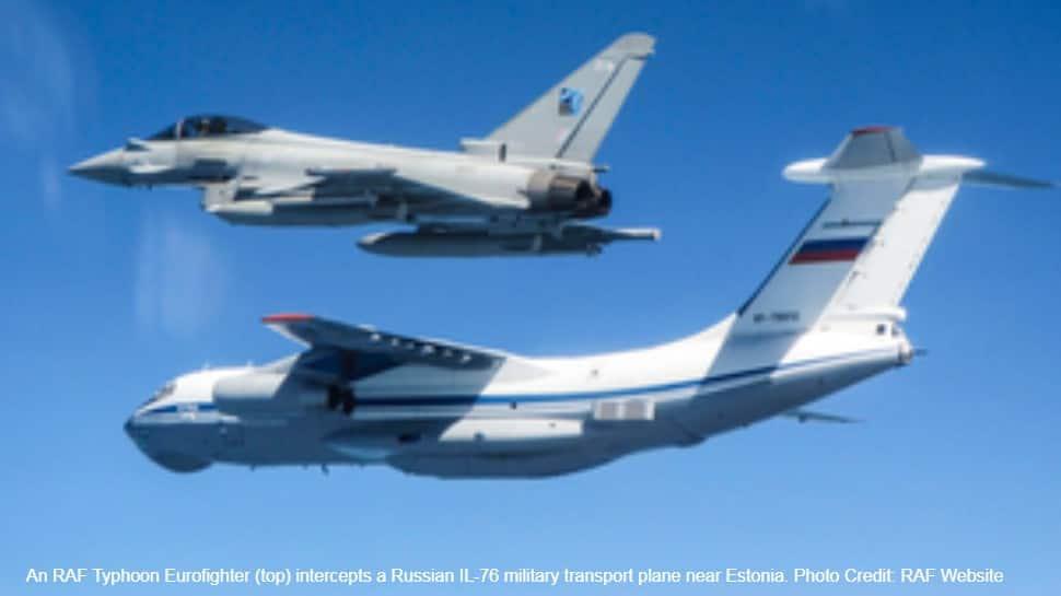 RAF Typhoon fighters intercept Russian IL-76 military plane near Estonia