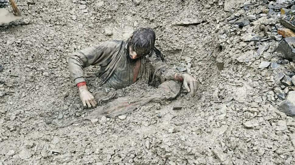 Man trapped overnight in landslide rescued by CRPF, Army personnel in J&K