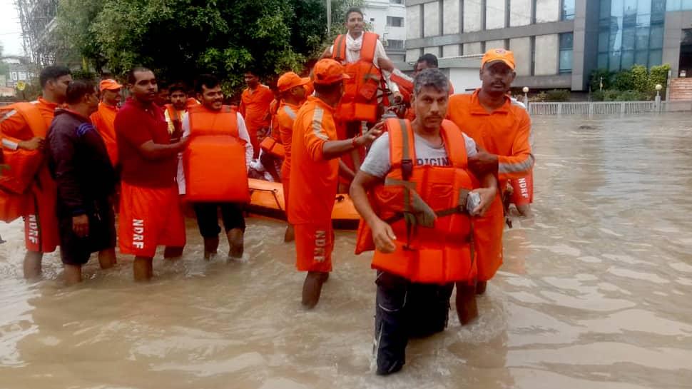 Heavy rainfall disrupts normal life in Gujarat's Vadodara; emergency helpline numbers issued