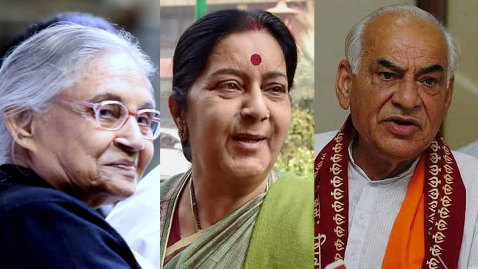 Three former Delhi chief ministers - Sushma Swaraj, Sheila Dikshit and Madan Lal Khurana - died in less than a year