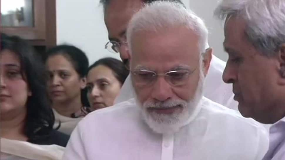 PM Narendra Modi gets emotional as he pays last respects to Sushma Swaraj
