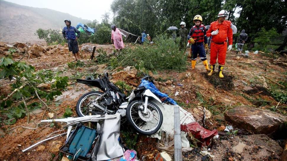 At least 10 dead, dozens missing after landslide in Myanmar