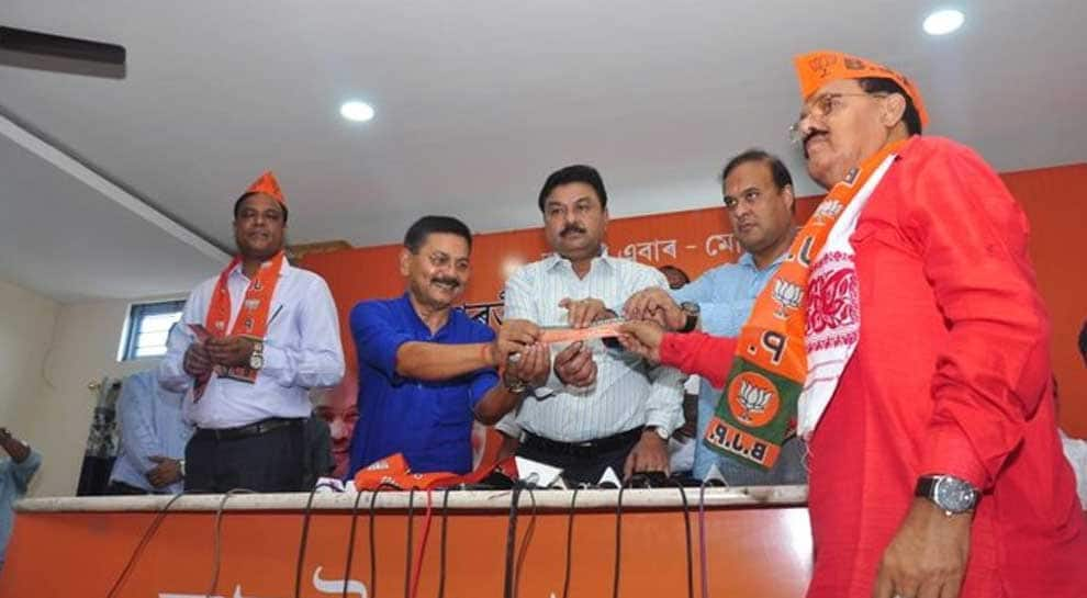 Former Congress MP Santiuse Kujur, Gautam Roy join BJP in Assam