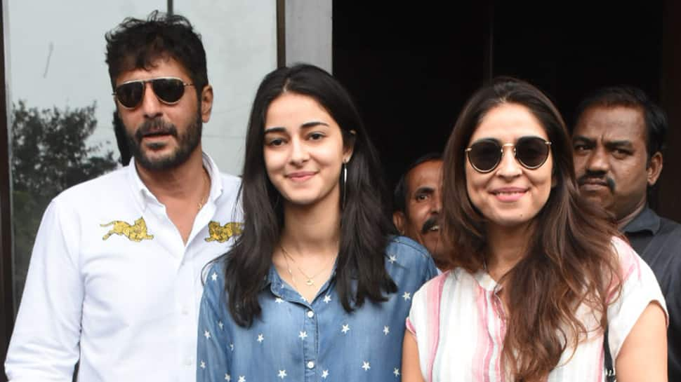 Ananya Panday is all smiles on a lunch date with dad Chunky Panday and mom Bhavana Panday—Pics