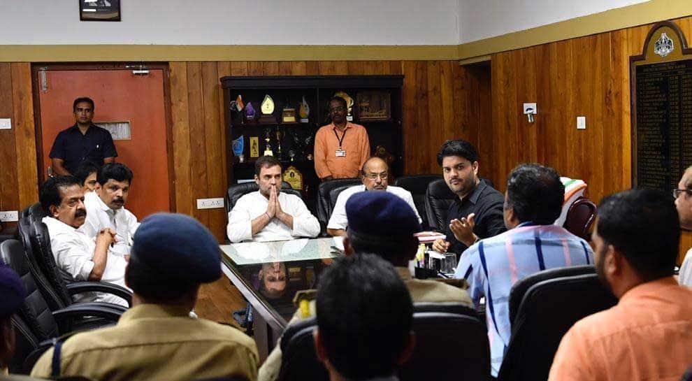 Rahul Gandhi reviews flood situation in Kerala's Wayanad, visits relief camp