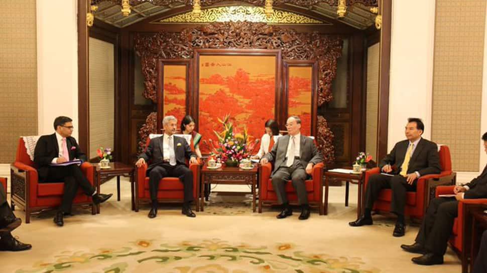 S Jaishankar meets China foreign minister Wang Yi, Vice President Wang Qishan