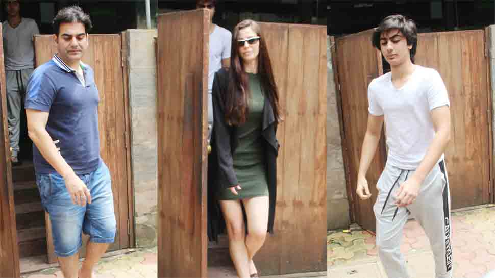 Arbaaz Khan enjoys lunch with girlfriend Giorgia Andriani, son Arhaan