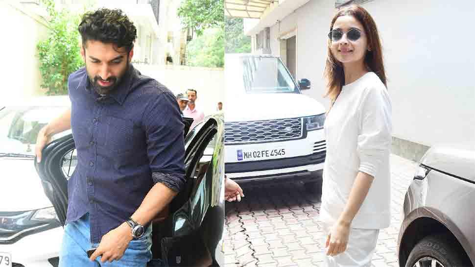Alia Bhatt clicked at Mahesh Bhatt's office with Sadak 2 co-star Aditya Roy Kapur — Pics