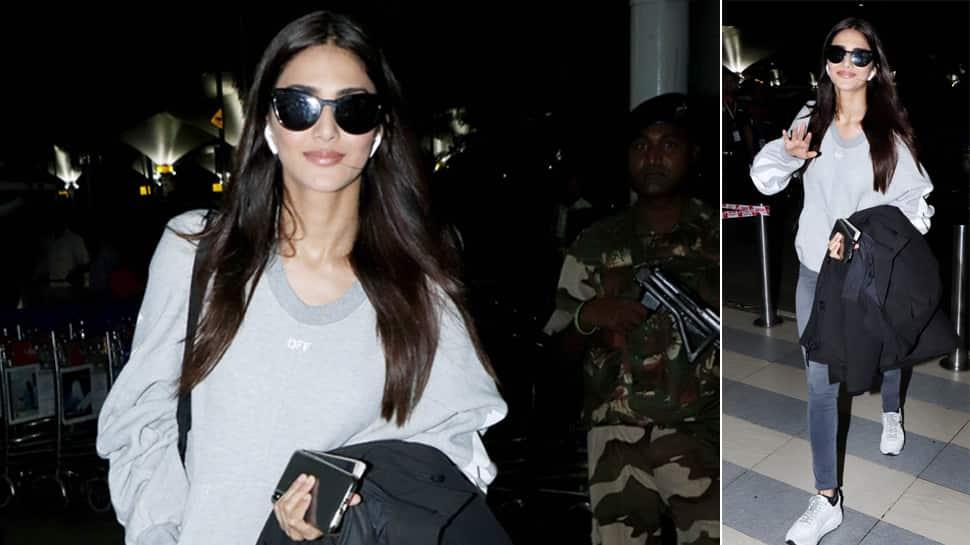 Vaani Kapoor slays her airport outing, makes grey look glam—Photos