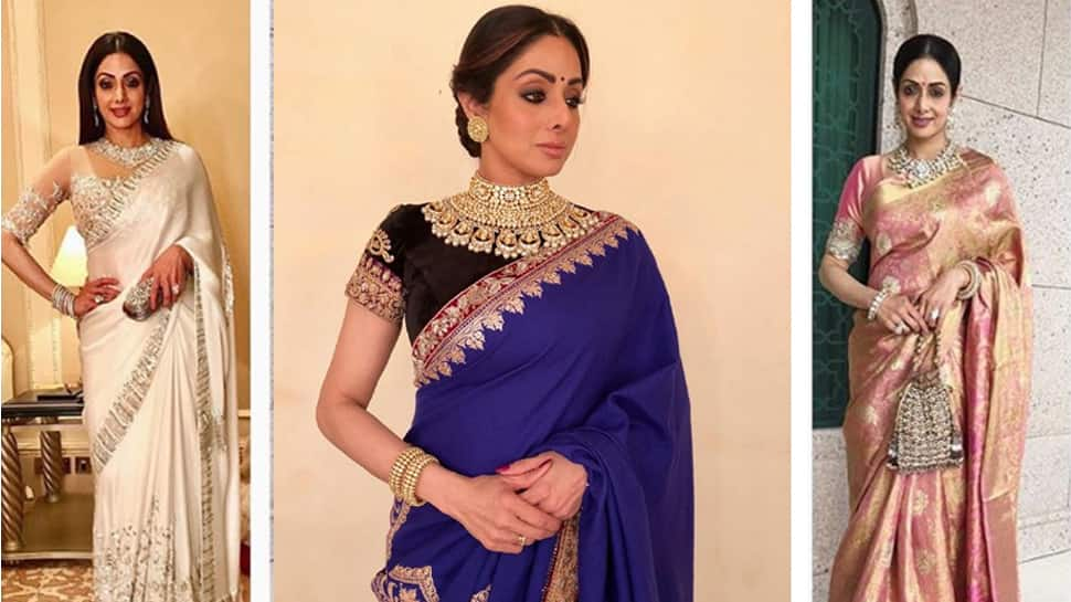 These pictures of Sridevi in a saree prove she draped the six-yard wonder like none!