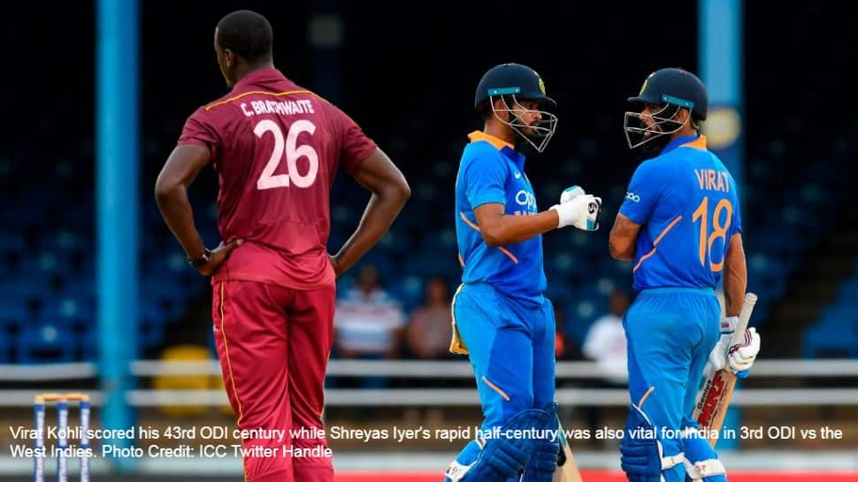 India win 3rd ODI vs West Indies riding on Virat Kohli and Shreyas Iyer's heroics, complete series whitewash