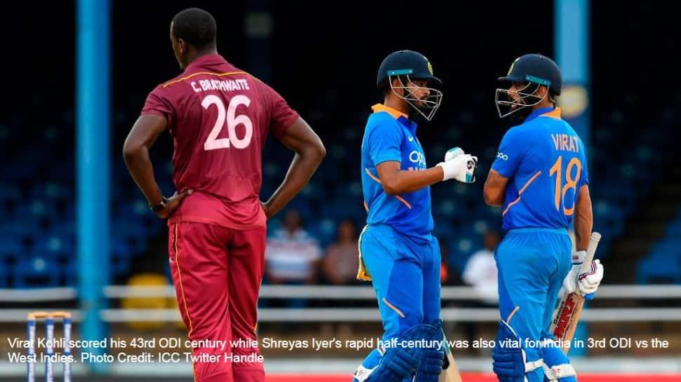 India win 3rd ODI vs West Indies riding on Virat Kohli and Shreyas Iyer's heroics, complete series whitewash