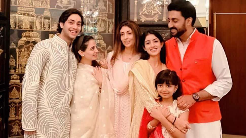 Aaradhya, Navya and Agastya complete Abhishek Bachchan and Shweta Bachchan Nanda's Rakhi celebrations
