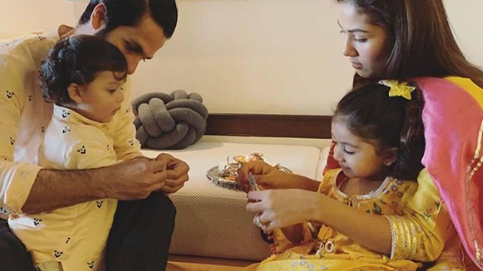 Mira Rajput gives a sneak-peek into how Misha and Zain Kapoor celebrated Rakhi! See pic