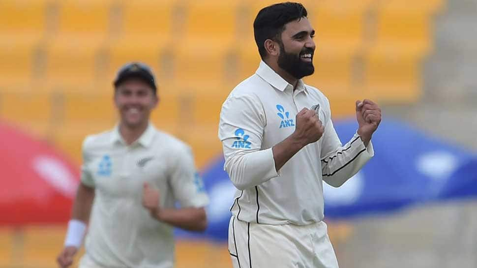 New Zealand spinner Ajaz Patel restricts Sri Lanka with a five-wicket haul