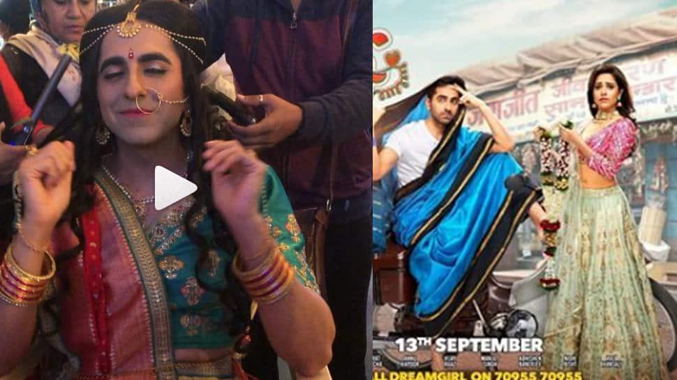 Dream Girl: Nushrat Bharucha shares a BTS video featuring Ayushmann Khurrana—Watch