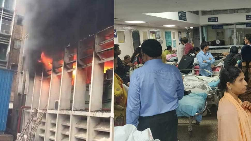 Massive blaze at Delhi's AIIMS contained; Health Minister Dr Harsh Vardhan orders special fire audit