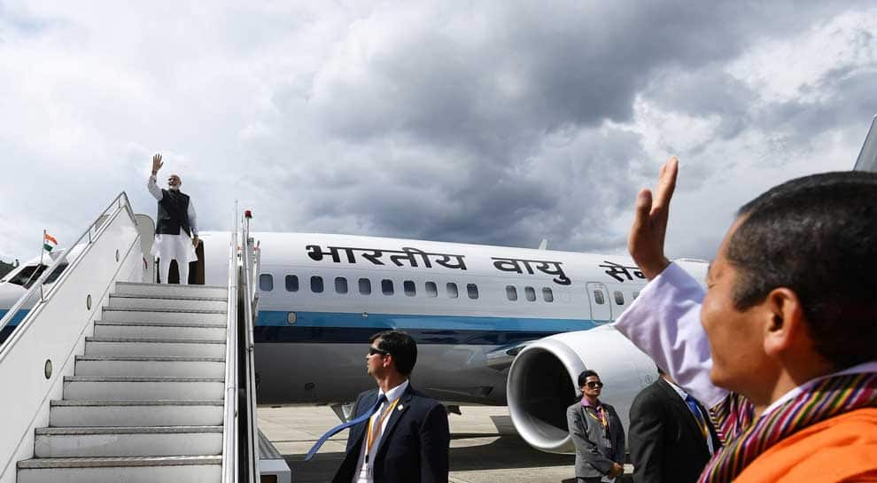 After successful two-day Bhutan visit, PM Narendra Modi heads back home