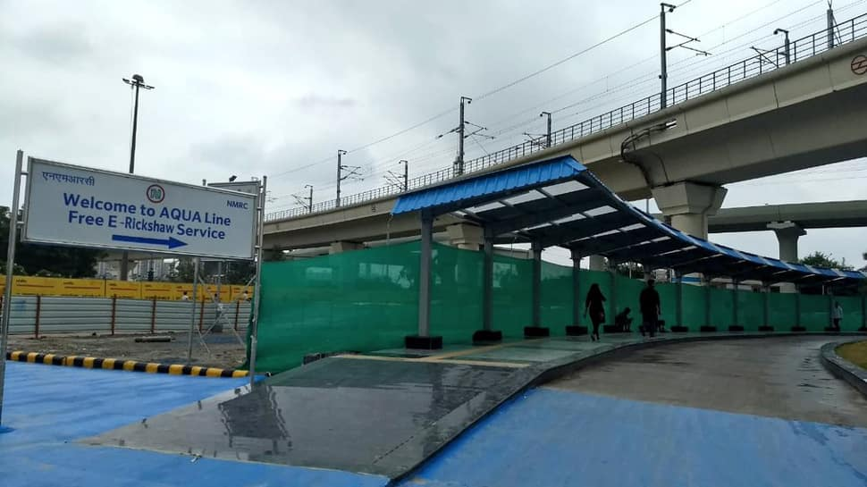 Walkway linking Blue Line, Aqua Line metro stations inaugurated