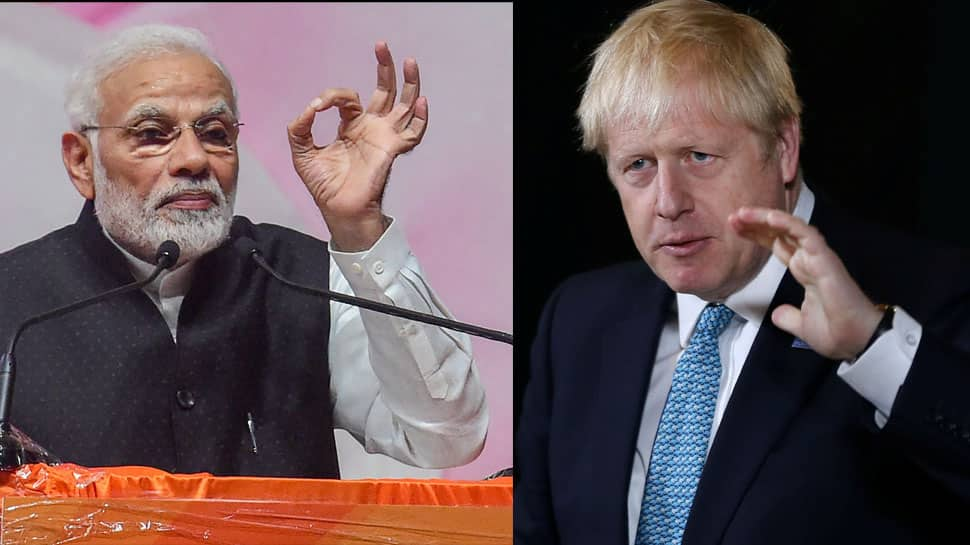 PM Narendra Modi speaks to UK PM Boris Johnson, raises concern over violence infront of Indian High Commission in London