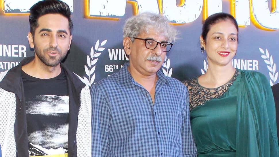 In pics: Ayushmann Khurrana and Tabu celebrate Andhadhun's National Award win