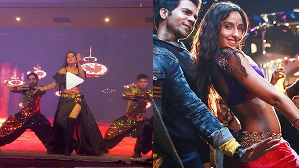 Monalisa sets the stage on fire while dancing to Nora Fatehi's 'Kamariya'—Watch