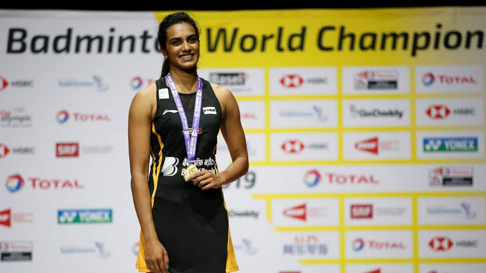 World Champion PV Sindhu returns home to a rousing welcome, says 'it's a great moment'