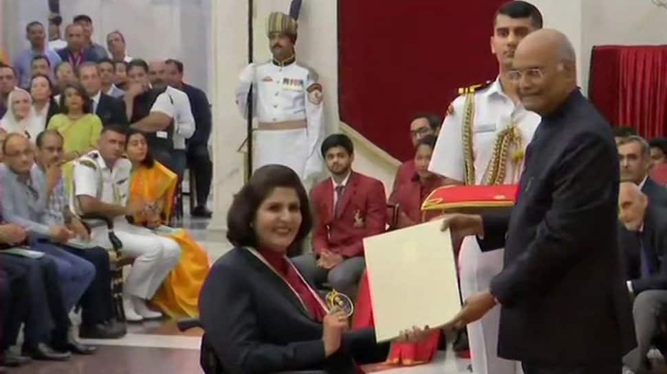 Deepa Malik conferred Khel Ratna, Bajrang Punia & Ravindra Jadeja miss awards ceremony