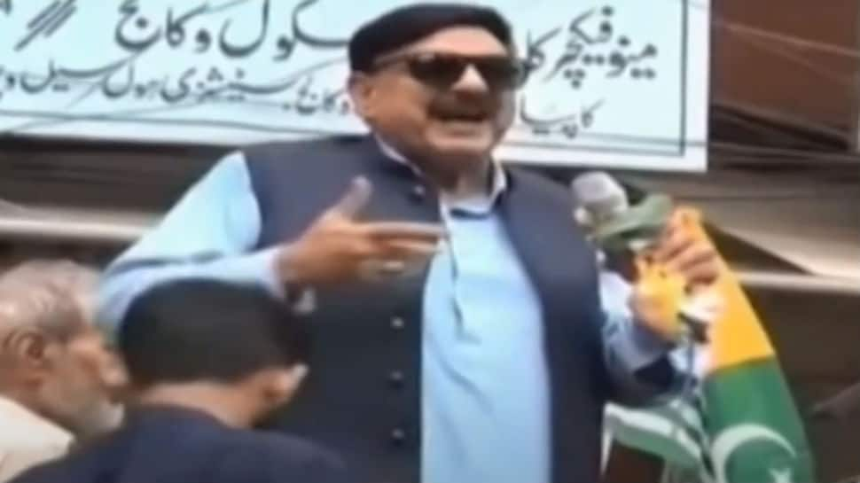 Watch: Pakistan minister Sheikh Rashid gets electric shock while speaking against PM Modi