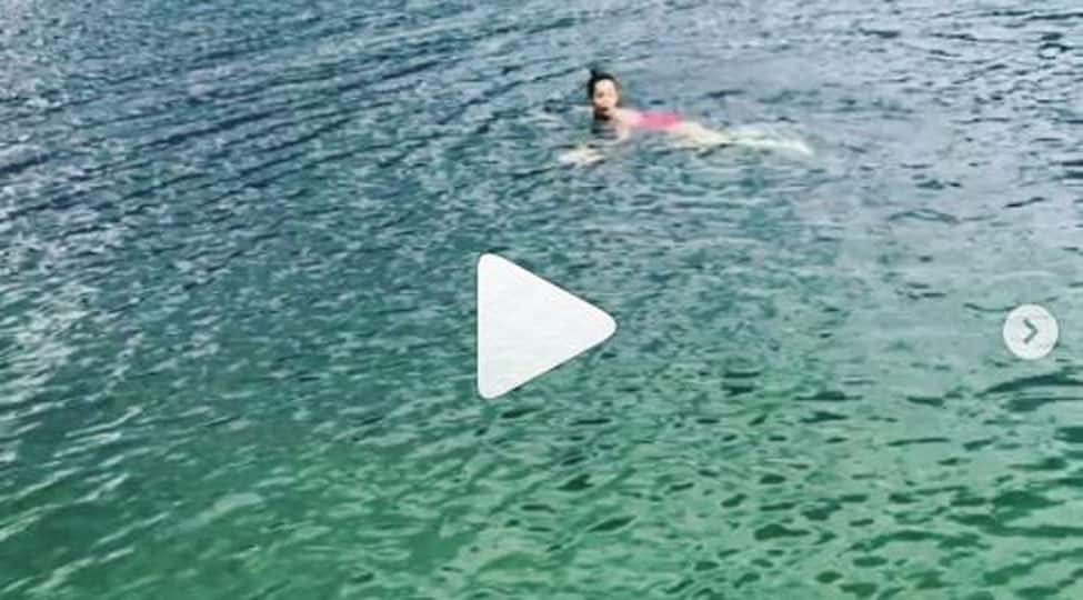 Malaika Arora swims in a lake in Austria, shares breathtaking video-Watch