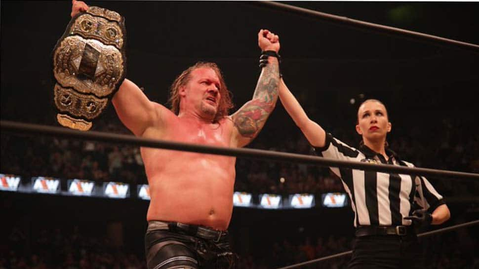 Wrestling legend Chris Jericho beats Adam Page to become first AEW world champion
