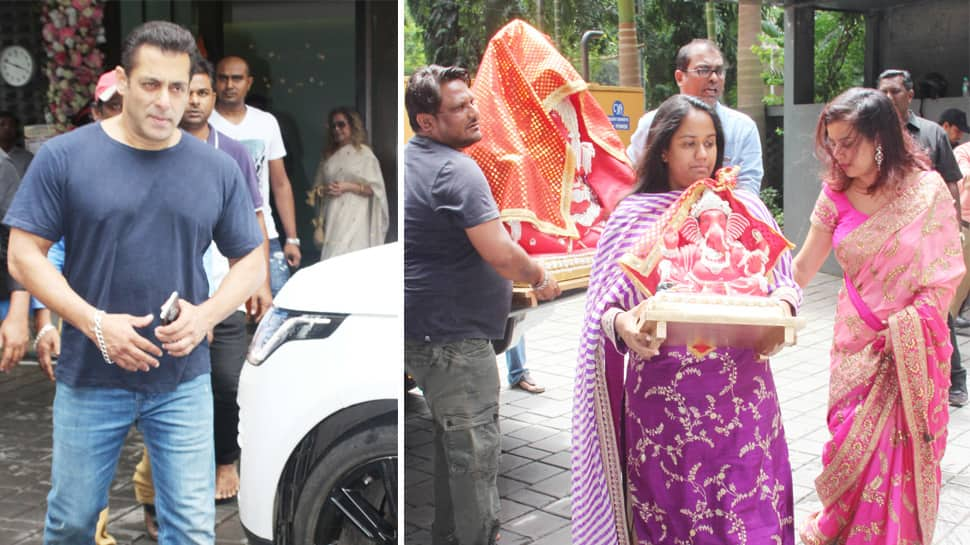 Arpita Khan Sharma brings Ganpati home, Salman Khan and family seek Bappa's blessings—Photos