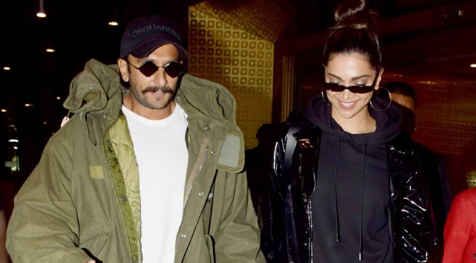 Ranveer Singh-Deepika Padukone return from London, walk hand-in-hand at the airport- See pic