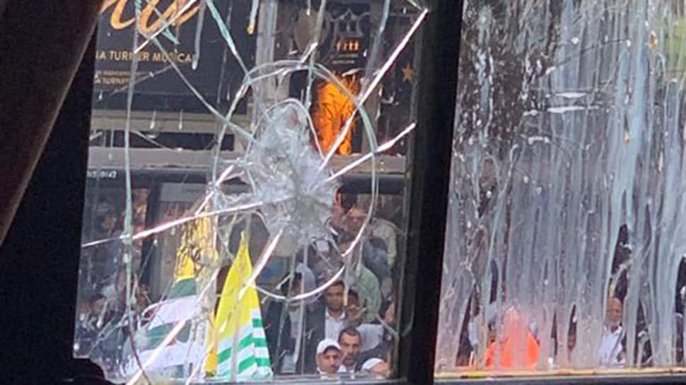 Fresh violent protests by Pakistan supporters at Indian High Commission in London, damage caused to premises