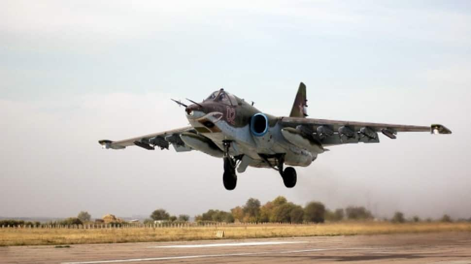 Dead bodies of crashed Russian Air Force Sukhoi Su-25UB fighter-bomber pilots found