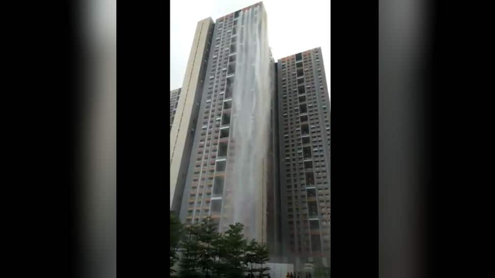 Cuffe Parade skyscraper in Mumbai turns into waterfall, video goes viral