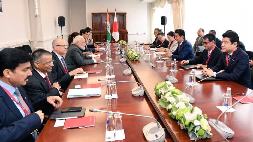 PM Narendra Modi, Japan's Shinzo Abe discuss strengthening bilateral ties in economy, defence
