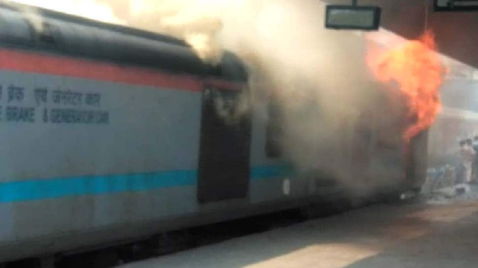 Coach of Kerala-bound train catches fire in New Delhi railway station, all passengers safe