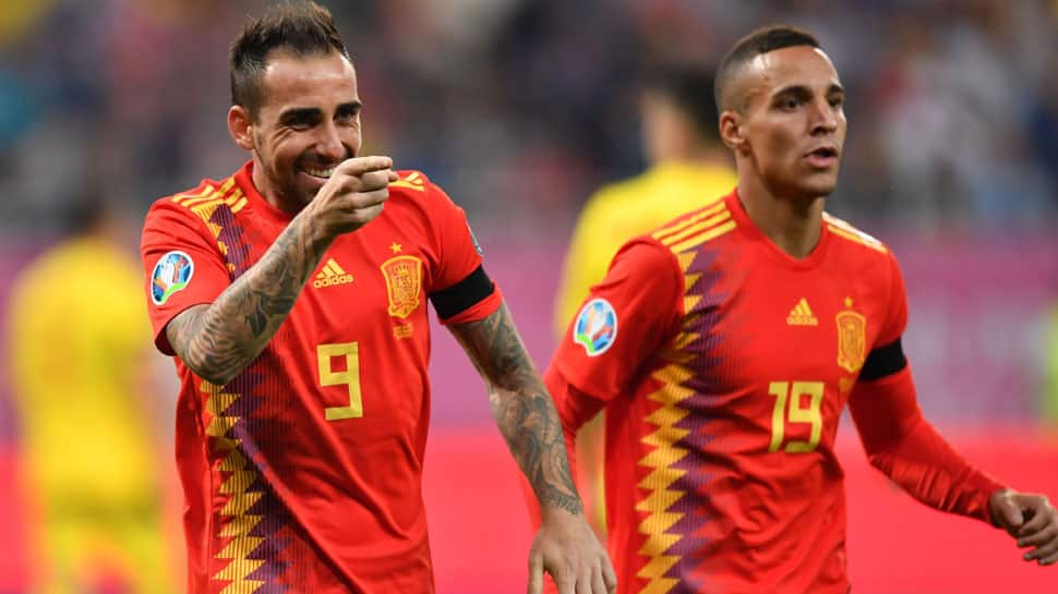 Euro 2020 qualifier: Spain survive Romania onslaught to secure a fifth win