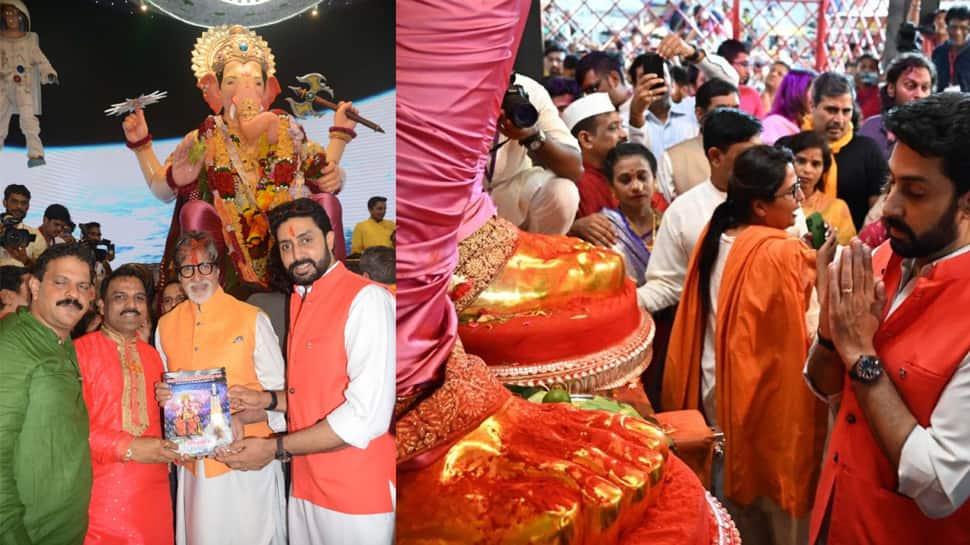 Abhishek Bachchan visits Lalbaugcha Raja, shares majestic picture