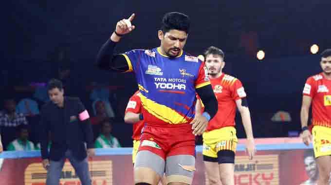 Pro Kabaddi: All-round UP Yoddha beat Gujarat Fortunegiants 33-26