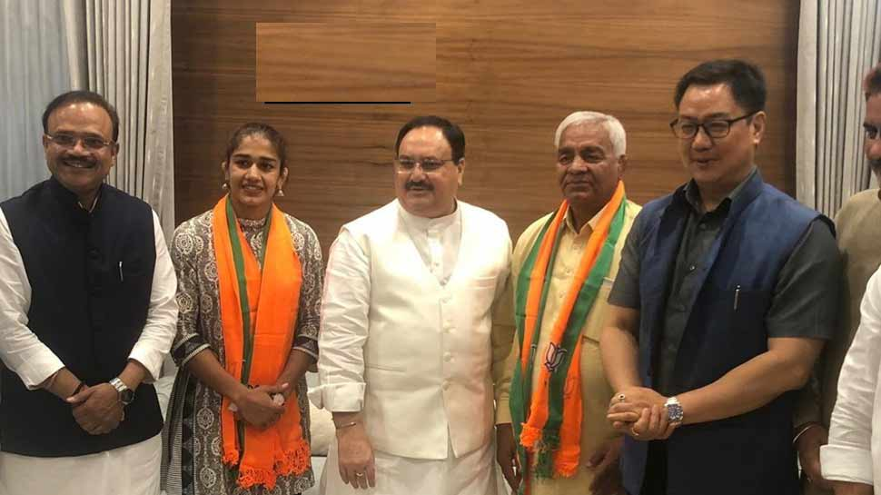Haryana Police accepts Babita Phogat's resignation, wrestler likely to contest state elections from BJP ticket