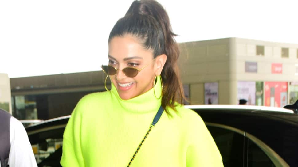 Deepika Padukone turns heads in a neon outfit at the airport—Pics