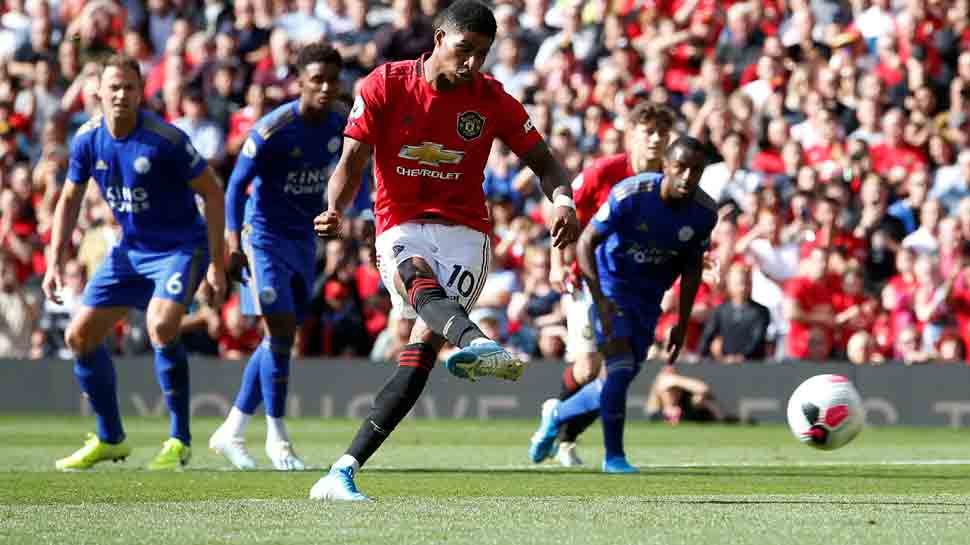 Manchester United go fourth as Marcus Rashford penalty beats Leicester City