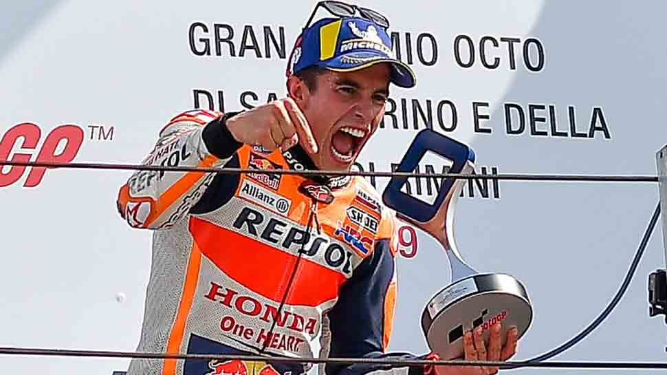 Honda`s Marc Marquez extends MotoGP lead with San Marino win