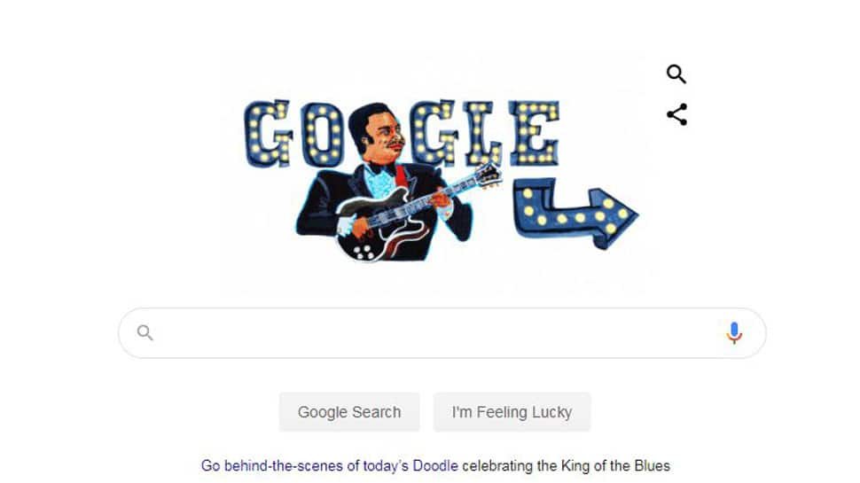 Google Doodle pays tribute to musician BB King on his 94th birth anniversary