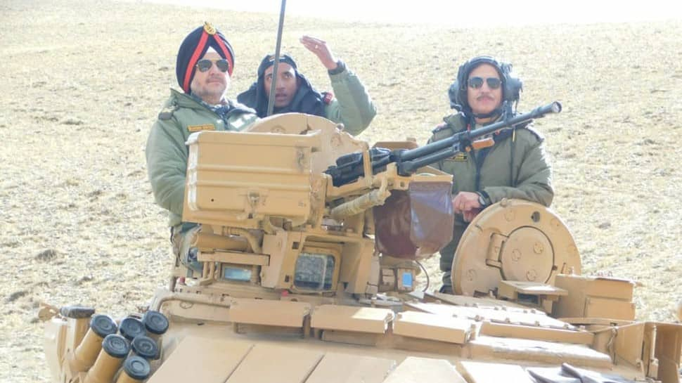 Indian Army conducts exercise in Eastern Ladakh, Northern Commander Lieutenant General Ranbir Singh praises troops