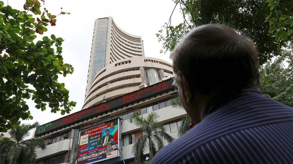 Sensex falls 470 points, Nifty closes below 10,800 on FII outflow
