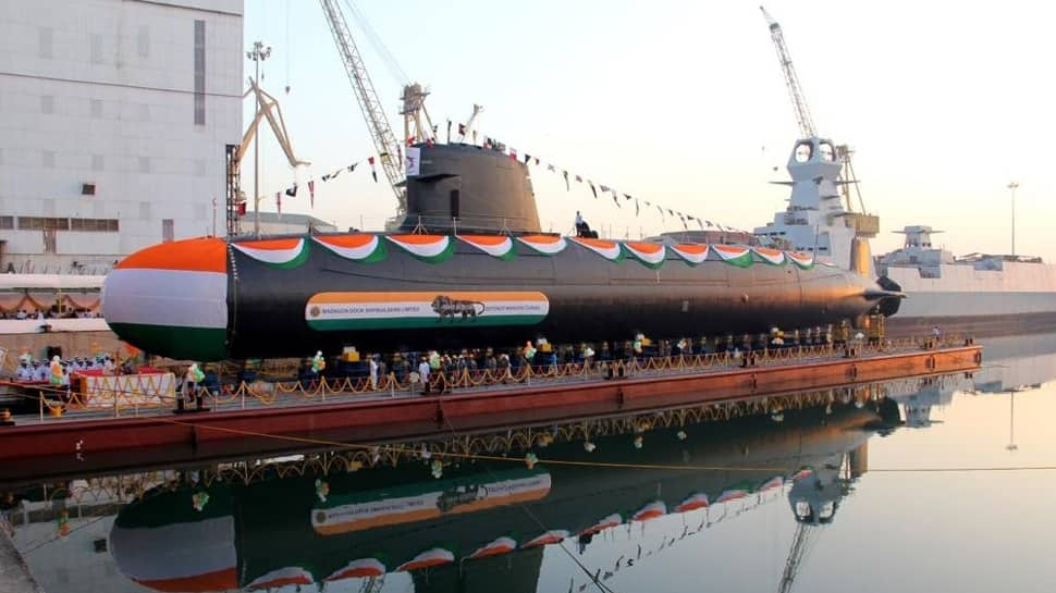 Indian Navy takes delivery of Scorpene submarine Khanderi from Mazagon Dock Shipbuilders Limited